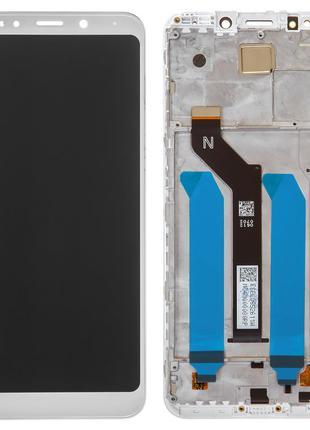 Дисплей Xiaomi Redmi 5 Plus с сенсором белый и рамкой