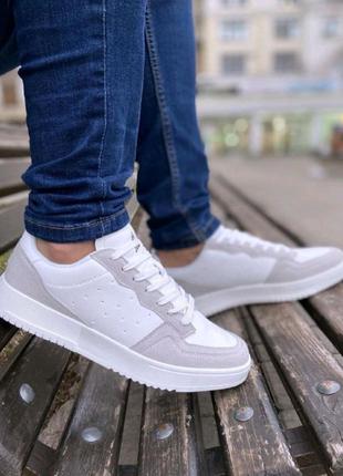Обувь Фор Бело- Серые