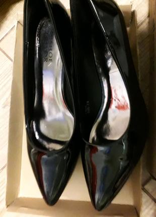 Туфлі лодочки чорні лакові