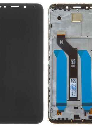 Дисплей Xiaomi Redmi 5 Plus с сенсором черный и рамкой