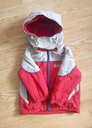 Демисезонная утепленная куртка с капюшоном 1-2 года.kiko