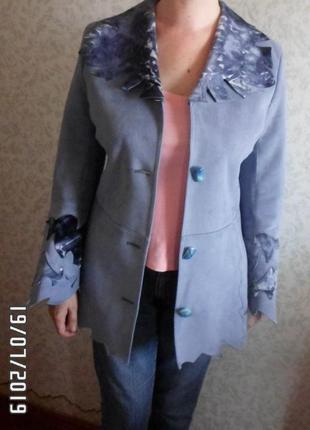 Весенняя куртка-дубленка, размер 44-46