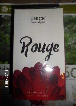 Парфюмированная вода unice secret desire rouge for women, 100 мл