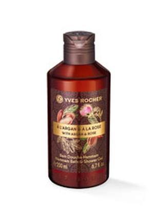 Гель для ванны и душа аргания – роза, 200 мл, yves rosher