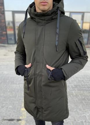 Куртка парка мужская базовая хаки турция / курточка чоловіча б...
