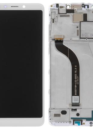 Дисплей Xiaomi Redmi 5 с сенсором белый и рамкой
