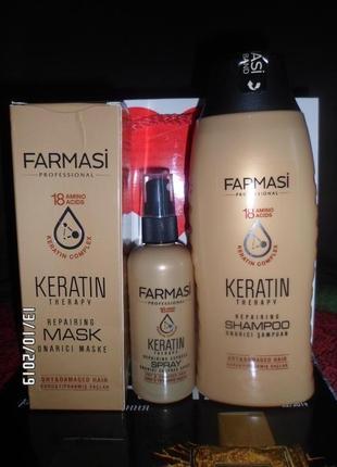Набор для волос серии кератин, farmasi