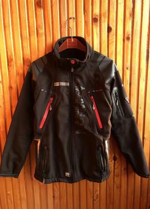 Куртка-ветровка Geographical Norway S-M на флис софтшел Napapijri