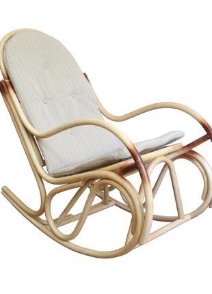 Кресло-качалка из ротанга Бриз с подушкой