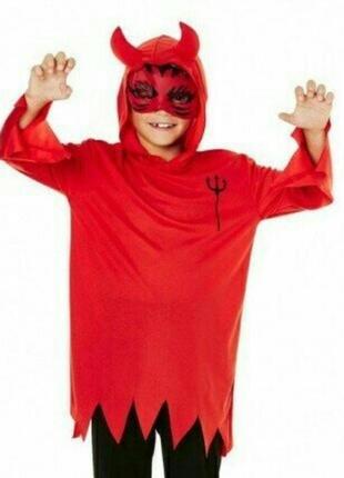Карнавальный костюм на хэллоуин чертёнок на 5-6 лет