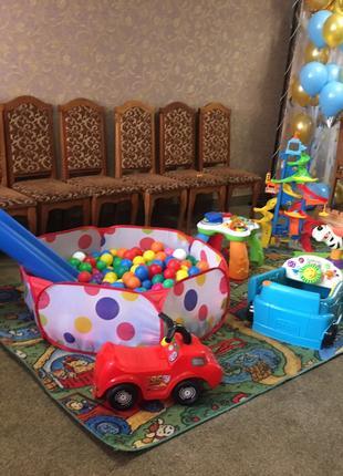 Выездная детская комната,бассейн с шариками, горка, игрушки, игро