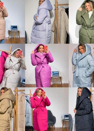 Зимняя длинная курточка с капюшоном, пальто одеяло , зимний...