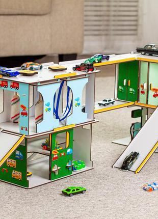 Игровой набор детский автокомплекс + подарок ( 5...