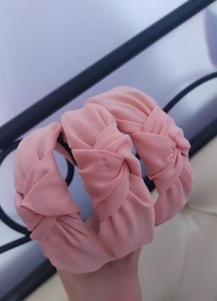 Нежнейший обруч-чалма с. узлом персик