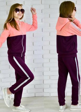 Спортивный костюм для девочки (турецкая двунить)