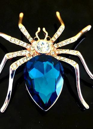 Брошь паук модная бижутерия красивые броши