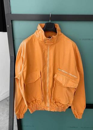Куртка мужская оверсайз легкая оранжевая / курточка чоловіча о...