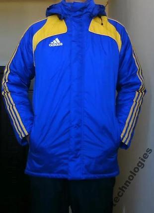 Куртка теплая осень-зима adidas padded jacket s-m