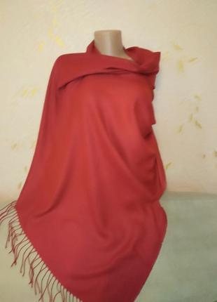Однотонный универсальный шарф палантин кашемир