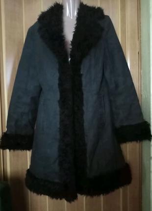 Пальто супер 👍с опушкой демисезонное Clockhouse