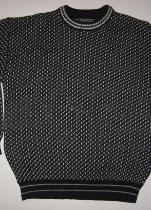 Теплый свитер woolovers 100% шерсть - м