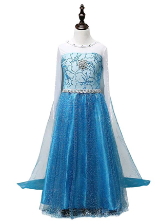 Платье Эльза со шлейфом р.130