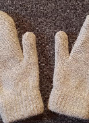 Перчатки варежки новые серые
