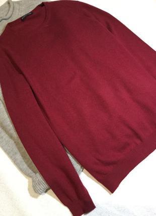 Свитер мужской из тонкой шерсти и кашемира wool vers размер l