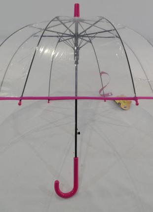 Зонт зонтик детский купольный прозрачный для мальчика и девочки