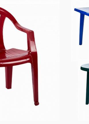Столы и стулья пластиковые Мебель садовая Доставка по Киеву и Укр