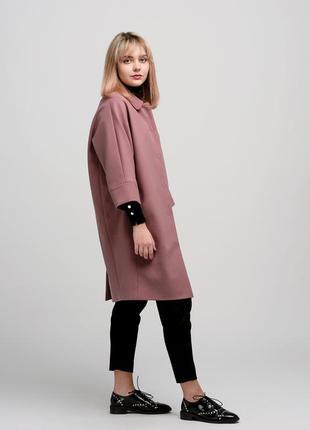 Осеннее женское пальто season розового цвета