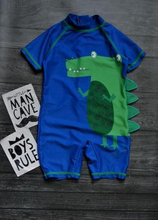 Купальный костюм для плаванья с динозавром nutmeg 1-1.5года