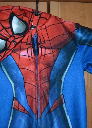 Пижама на мальчика 3-4 года, пижама человек паук, слип, костюм