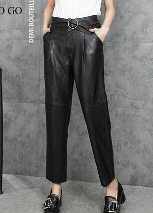 🔥🔥🔥стильные женские брюки, штаны из натуральной кожи🔥🔥🔥