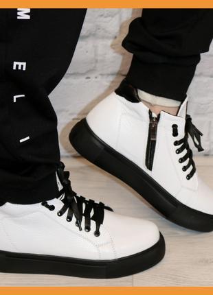 Демисезонные кожаные ботинки Medium 36-41