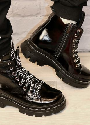 Ботинки демисезонные женские кожаные черные Valure , размер.36. 3