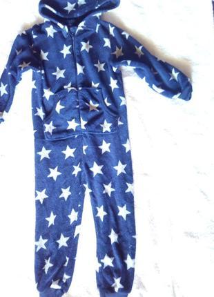 Детская флисовый пижама, слип, на 7-8 лет