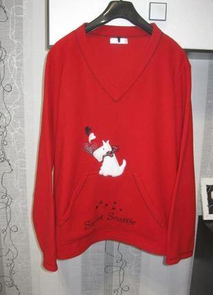 Пижама теплая реглан собачка флисовый пижамный большого размер...