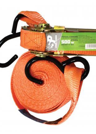 Ремінь стяжний 0.5 т, 5 м х 25 мм, поліестер. 2501 STEEL POWER