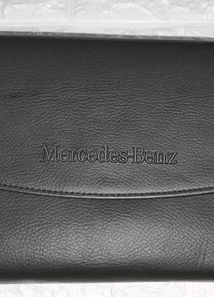 Оригинальная кожаная папка чехол Mercedes-Benz для инструкции