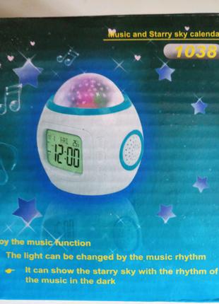 Часы проектор с проекцией звездное небо