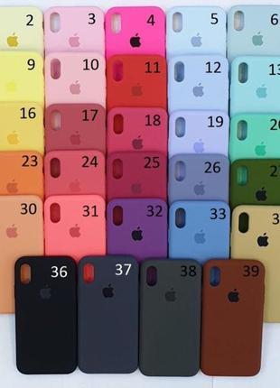 Silicone Case для Apple iPhone 6/6s/7/7Plus/8/XS/XR/10