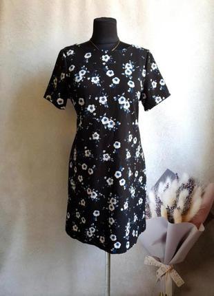 Фактурное платье в цветах р.m new look