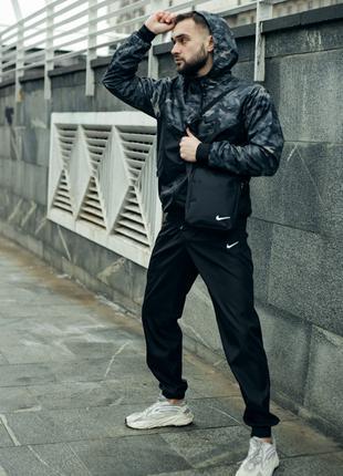 Комплект мужской Nike ветровка + штаны + барсетка  в подарок!