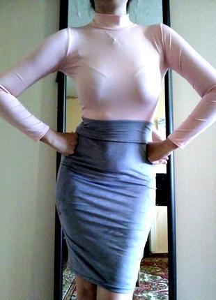 Платье по фигуре, облегающее, гольф и юбка карандаш