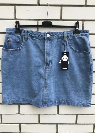 Новая,джинсовая юбка,большой размер( нюанс) boohoo