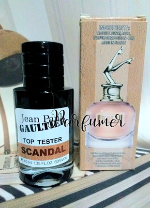 Scandal женские духи 40 мл, Сладкий аромат скандал парфюм, тестер