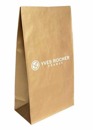 Пакет бумажный золотистый - конверт yves rocher ив роше