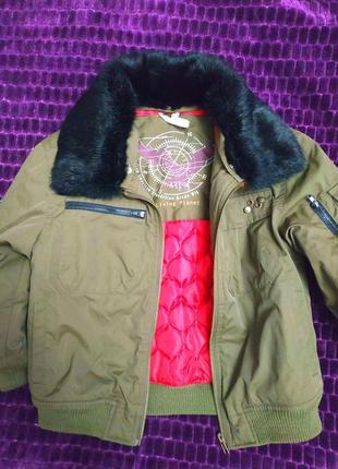 Куртка осенняя с натуральным мехом (кролика)