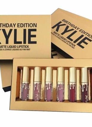 ХИТ ПРОДАЖ! Kylie Birthday Edition (Кайли Дженер) 6 в 1 матова...